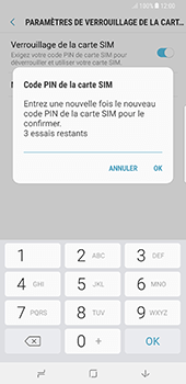 Samsung Galaxy Note 8 - Sécuriser votre mobile - Personnaliser le code PIN de votre carte SIM - Étape 10