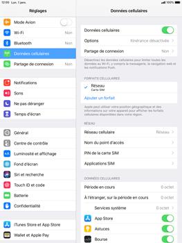 Apple iPad 9.7 (2018) iOS12 - Sécurité - modifier SIM PIN - Étape 4