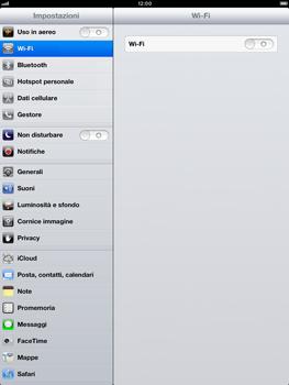 Apple iPad Retina - Rete - Selezione manuale della rete - Fase 3