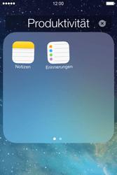 Apple iPhone 4S iOS 7 - Startanleitung - Personalisieren der Startseite - Schritt 5