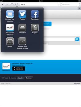 Apple iPad Retina - Internet et roaming de données - Navigation sur Internet - Étape 12