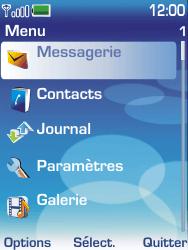 Nokia 6233 - SMS - configuration manuelle - Étape 3
