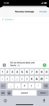 Apple iPhone 11 Pro - Contact, Appels, SMS/MMS - Envoyer un SMS - Étape 10