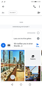 Huawei P20 - Android Pie - MMS - Erstellen und senden - Schritt 15