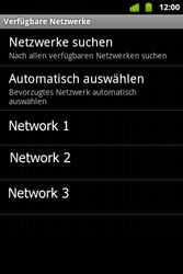 Alcatel OT-983 - Netzwerk - Manuelle Netzwerkwahl - Schritt 9