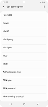 Samsung Galaxy S20 Ultra 5G - Internet and data roaming - Manual configuration - Step 13