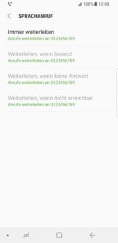 Samsung Galaxy S8 - Android Oreo - Anrufe - Rufumleitungen setzen und löschen - Schritt 12