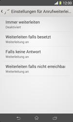 Sony Xperia E1 - Anrufe - Rufumleitungen setzen und löschen - Schritt 6