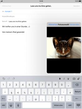 Apple ipad-pro-9-7-inch-mit-ios-11 - E-Mail - E-Mail versenden - Schritt 11