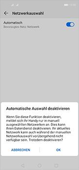 Huawei Nova 5T - Netzwerk - Manuelle Netzwerkwahl - Schritt 7