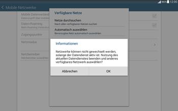 Samsung T535 Galaxy Tab 4 10.1 - Netzwerk - Manuelle Netzwerkwahl - Schritt 10
