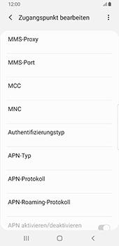 Samsung Galaxy S9 - Android Pie - Internet - Manuelle Konfiguration - Schritt 13