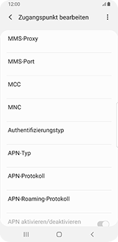 Samsung Galaxy S9 - Internet - Manuelle Konfiguration - 13 / 39