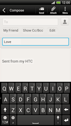 HTC S728e One X Plus - Email - Sending an email message - Step 8