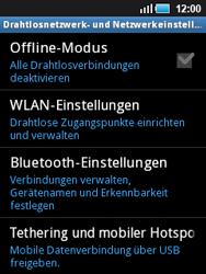 Samsung S5570 Galaxy Mini - WLAN - Manuelle Konfiguration - Schritt 5