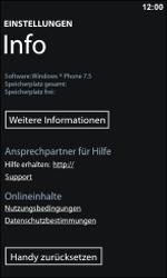 Nokia Lumia 800 - Fehlerbehebung - Handy zurücksetzen - 7 / 11