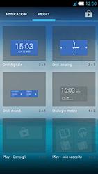 Alcatel One Touch Idol S - Operazioni iniziali - Installazione di widget e applicazioni nella schermata iniziale - Fase 5