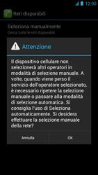 Alcatel One Touch Idol - Rete - Selezione manuale della rete - Fase 10