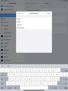 Apple iPad Pro 12.9 (1st gen) - ipados 13 - E-Mail - Manuelle Konfiguration - Schritt 9