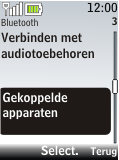 Nokia 2720 fold - bluetooth - headset, carkit verbinding - stap 6