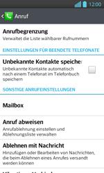 LG P710 Optimus L7 II - Anrufe - Anrufe blockieren - Schritt 5