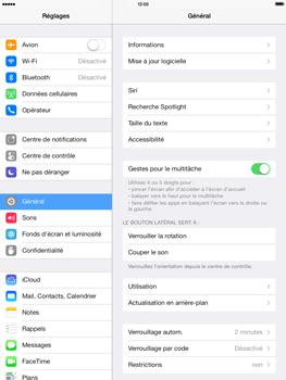 Apple iPad mini iOS 7 - Téléphone mobile - Réinitialisation de la configuration d