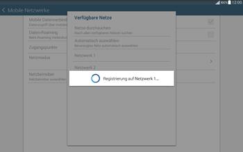 Samsung T535 Galaxy Tab 4 10.1 - Netzwerk - Manuelle Netzwerkwahl - Schritt 11