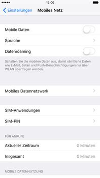 Apple iPhone 6 Plus iOS 9 - Internet und Datenroaming - Prüfen, ob Datenkonnektivität aktiviert ist - Schritt 4