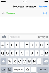 Apple iPhone 4S (iOS 8) - Contact, Appels, SMS/MMS - Envoyer un MMS - Étape 7
