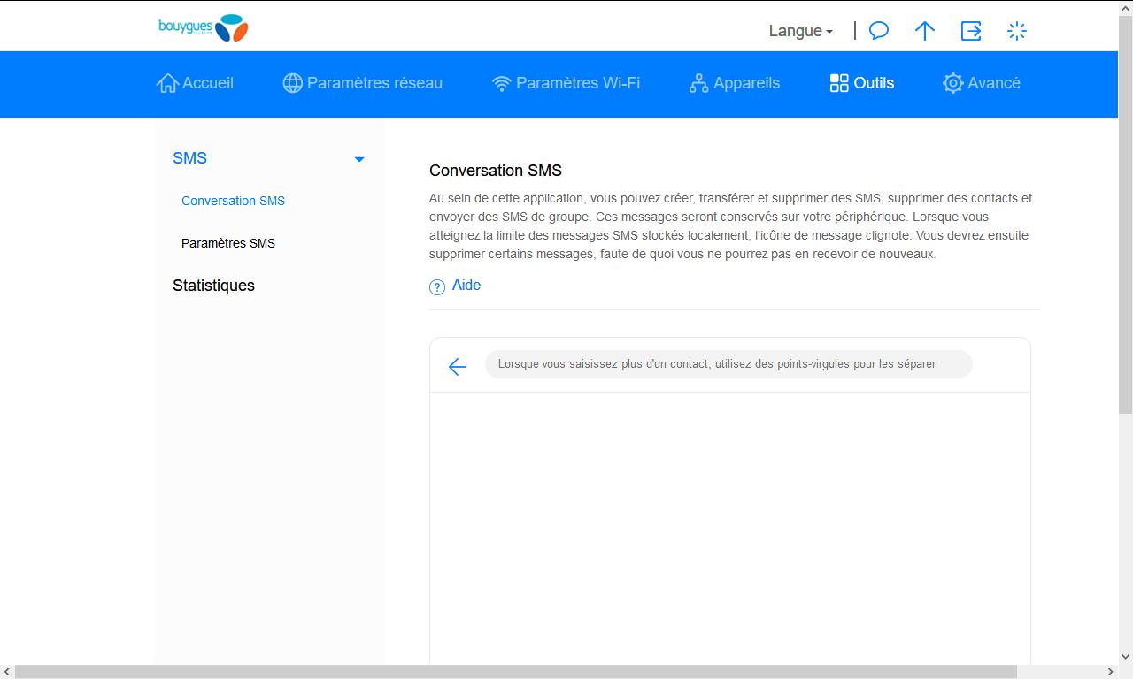 Huawei E5576 - Contact, Appels, SMS/MMS - Envoyer un SMS - Étape 4