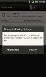 HTC One SV - Bluetooth - Verbinden von Geräten - Schritt 7