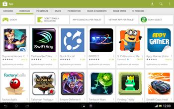 Sony Xperia Tablet Z LTE - Applicazioni - Installazione delle applicazioni - Fase 4