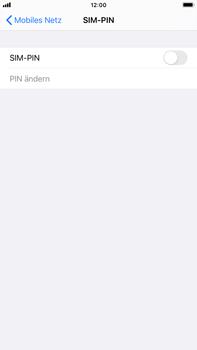Apple iPhone 7 Plus - iOS 14 - Startanleitung - So aktivieren Sie eine SIM-PIN - Schritt 5