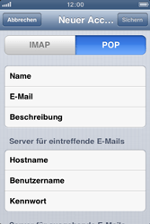 Apple iPhone 3GS - E-Mail - Manuelle Konfiguration - Schritt 10
