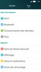 Huawei Y5 - Internet et roaming de données - Comment vérifier que la connexion des données est activée - Étape 3