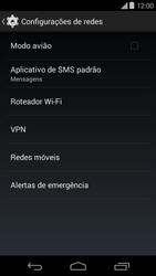 Motorola Moto E (1st Gen) (Kitkat) - Rede móvel - Como ativar e desativar uma rede de dados - Etapa 5