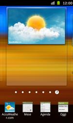 Samsung Galaxy S Advance - Operazioni iniziali - Installazione di widget e applicazioni nella schermata iniziale - Fase 6