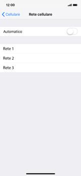 Apple iPhone XS - Rete - Selezione manuale della rete - Fase 6