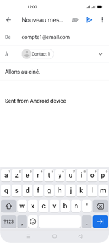 Oppo Reno 4Z - E-mails - Envoyer un e-mail - Étape 8