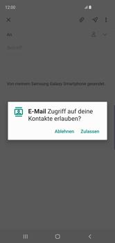 Samsung Galaxy S10 - E-Mail - E-Mail versenden - Schritt 6