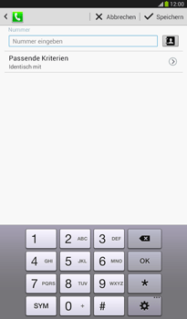 Samsung Galaxy Tab 3 7-0 - Anrufe - Anrufe blockieren - 10 / 15