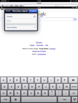 Apple iPad - Internet - navigation sur Internet - Étape 5