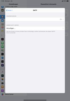 Apple iPad Pro 10.5 (1st gen) - iPadOS 13 - E-Mail - Manuelle Konfiguration - Schritt 20