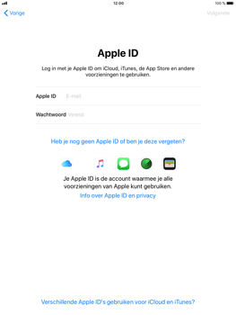 Apple iPad Mini 3 - iOS 11 - Toestel - Toestel activeren - Stap 17