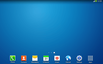 Samsung Galaxy Tab 3 10-1 LTE - Getting started - Installing widgets and applications on your start screen - Step 11