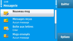 Nokia N97 - E-mail - Configuration manuelle - Étape 4