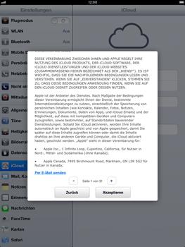 Apple iPad Retina iOS 7 - Apps - Konfigurieren des Apple iCloud-Dienstes - Schritt 6