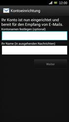 Sony Ericsson Xperia Ray mit OS 4 ICS - E-Mail - Konto einrichten - 0 / 0