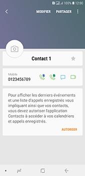 Samsung Galaxy A6 - Contact, Appels, SMS/MMS - Ajouter un contact - Étape 10