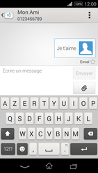 Sony Xpéria E3 - Contact, Appels, SMS/MMS - Envoyer un SMS - Étape 12